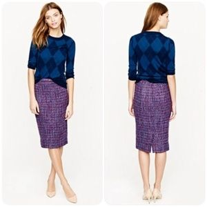 New J. Crew Wool No. 2 Pencil Skirt In Multicolor